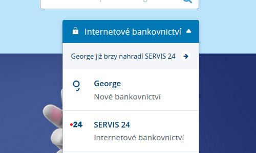 Výsuvné menu george.cz